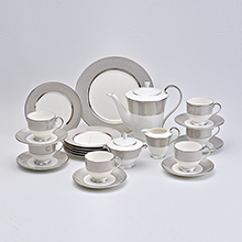 PLATINUM DIAMOND - 24PC BONE CHINA TEA SET